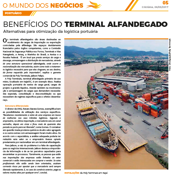 Benefícios do Terminal Alfandegado